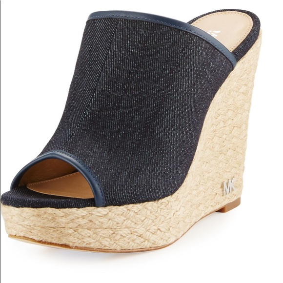 MICHAEL Michael Kors Shoes - Michael Michael kors denim Hastings mules